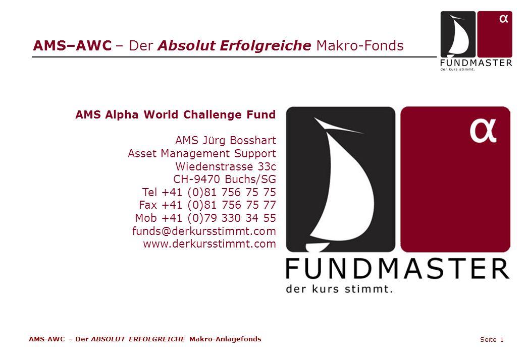AMS–AWC – Der Absolut Erfolgreiche Makro-Fonds AMS-AWC – Der ABSOLUT ERFOLGREICHE Makro-Anlagefonds Seite 1 AMS Alpha World Challenge Fund AMS Jürg Bo