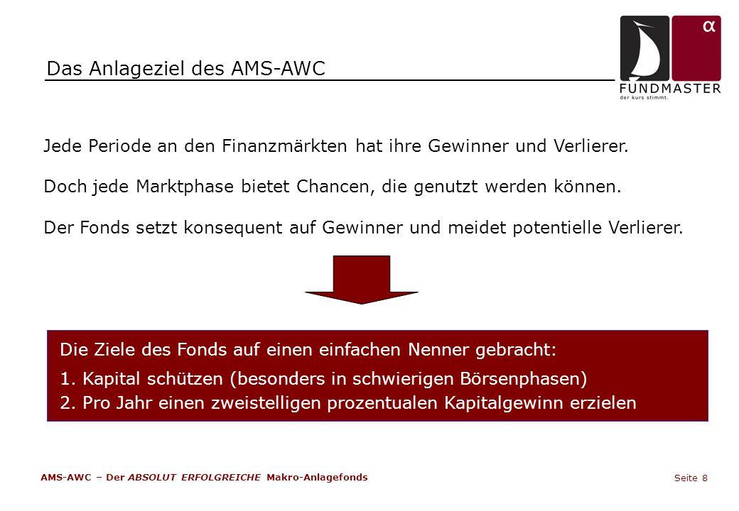 Das Anlageziel des AMS-AWC Jede Periode an den Finanzmärkten hat ihre Gewinner und Verlierer. Doch jede Marktphase bietet Chancen, die genutzt werden