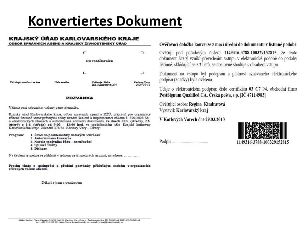 Konvertiertes Dokument