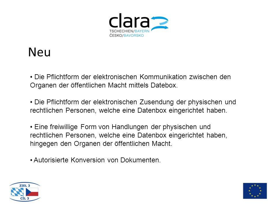 Neu Die Pflichtform der elektronischen Kommunikation zwischen den Organen der öffentlichen Macht mittels Datebox.