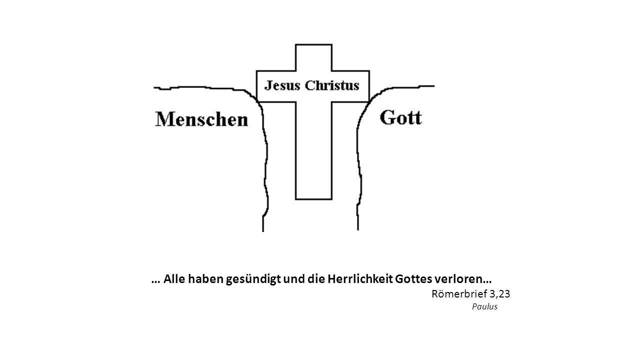 … Alle haben gesündigt und die Herrlichkeit Gottes verloren… Römerbrief 3,23 Paulus