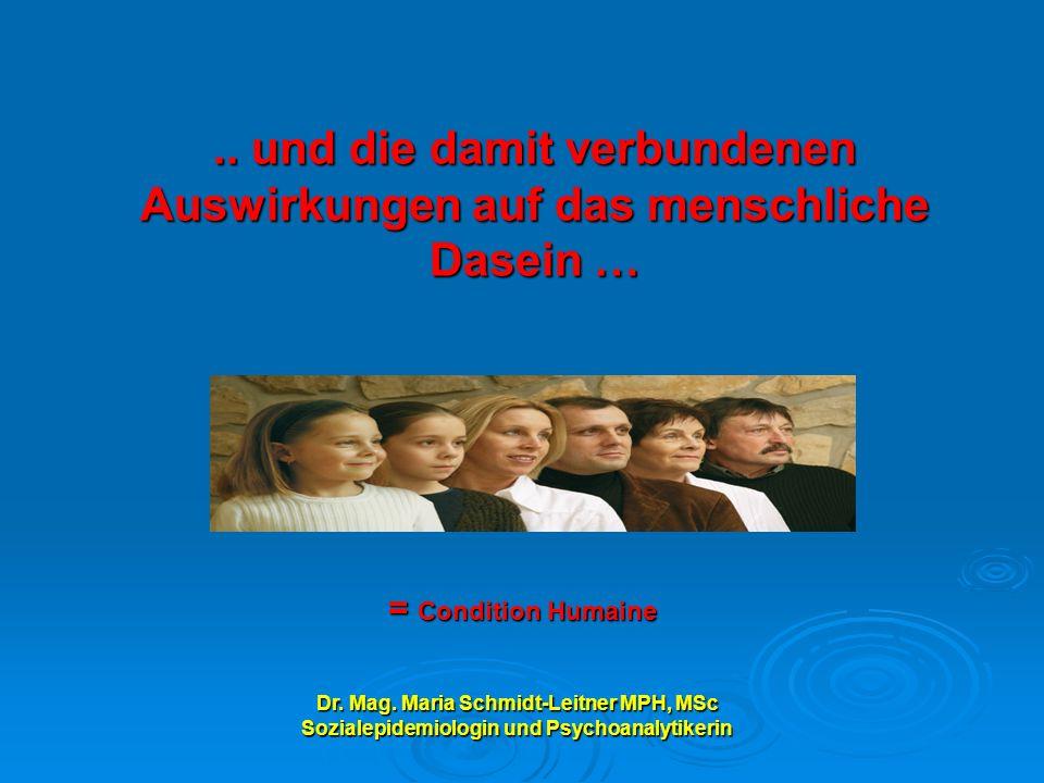 Dr. Mag. Maria Schmidt-Leitner MPH, MSc Sozialepidemiologin und Psychoanalytikerin..