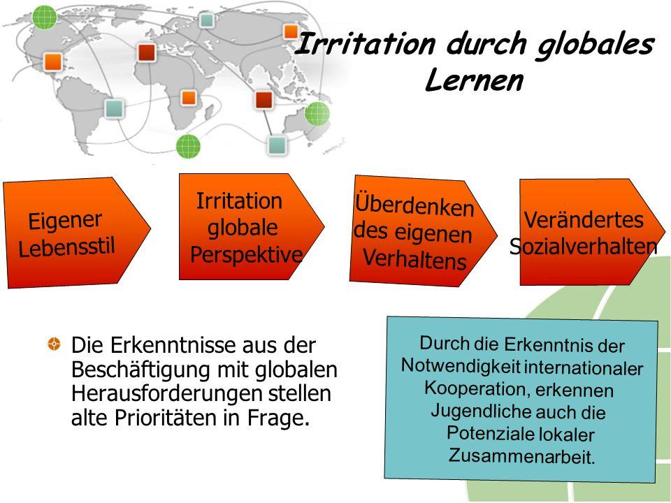 Irritation durch globales Lernen Die Erkenntnisse aus der Beschäftigung mit globalen Herausforderungen stellen alte Prioritäten in Frage.