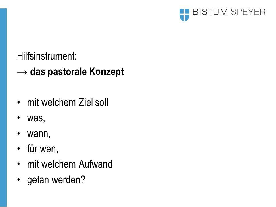 Hilfsinstrument: → das pastorale Konzept Was hat sich bewährt.