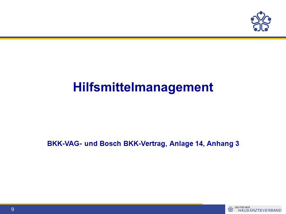 9 Hilfsmittelmanagement BKK-VAG- und Bosch BKK-Vertrag, Anlage 14, Anhang 3