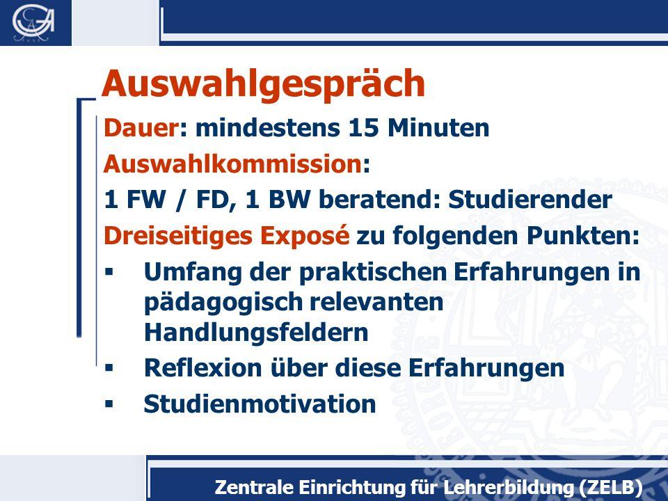 Zentrale Einrichtung für Lehrerbildung (ZELB)