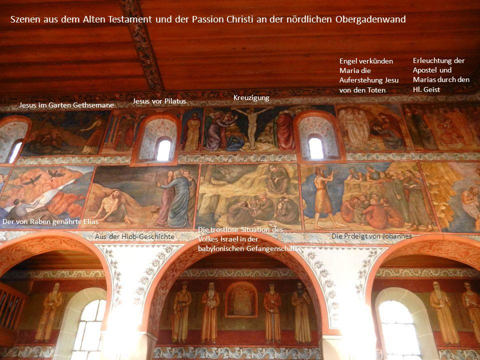 Ausschnitte aus der südlichen Obergadenwand Untere Reihe: Alttestamentliche Szenen Obere Reihe: Teile aus der Weihnachtsgeschichte Es lohnte sich hier die Wanderung zu unterbrechen