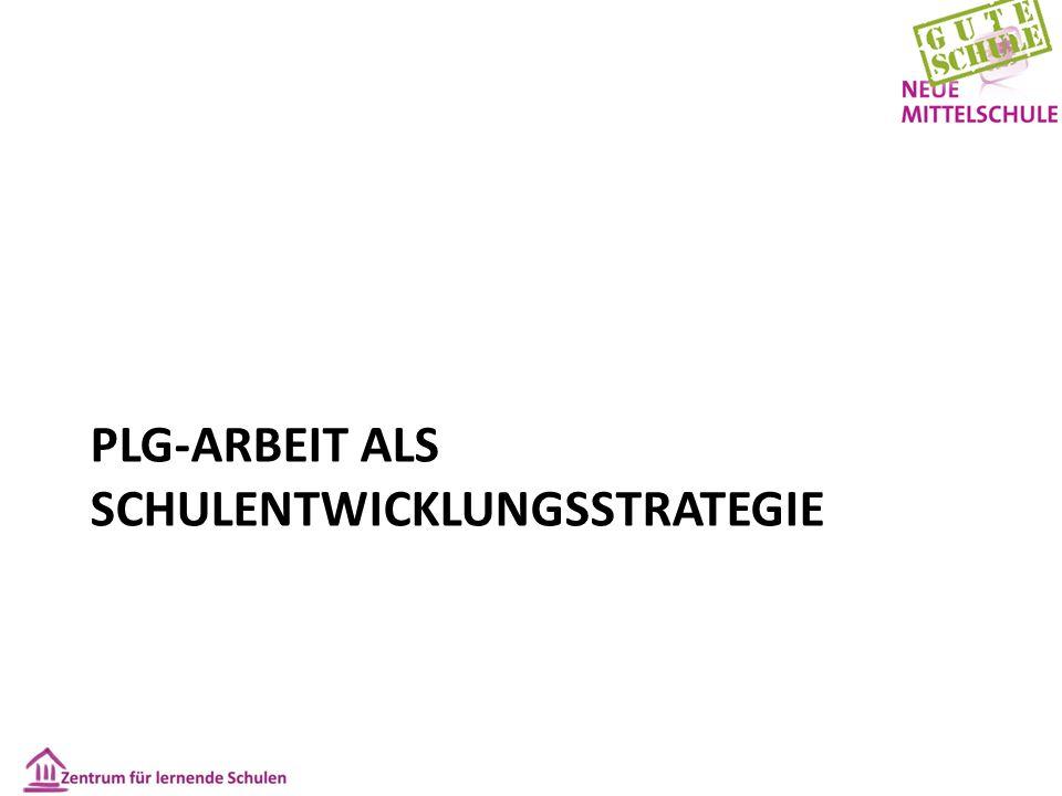 PLG-ARBEIT ALS SCHULENTWICKLUNGSSTRATEGIE