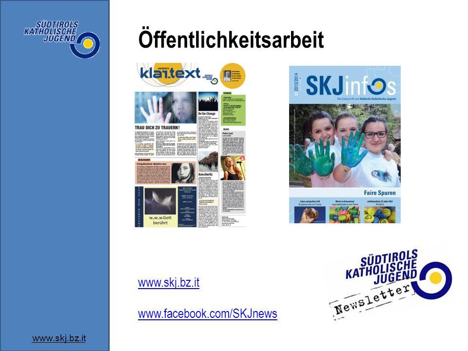 Öffentlichkeitsarbeit www.skj.bz.it www.facebook.com/SKJnews
