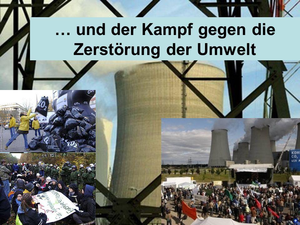 … und der Kampf gegen die Zerstörung der Umwelt