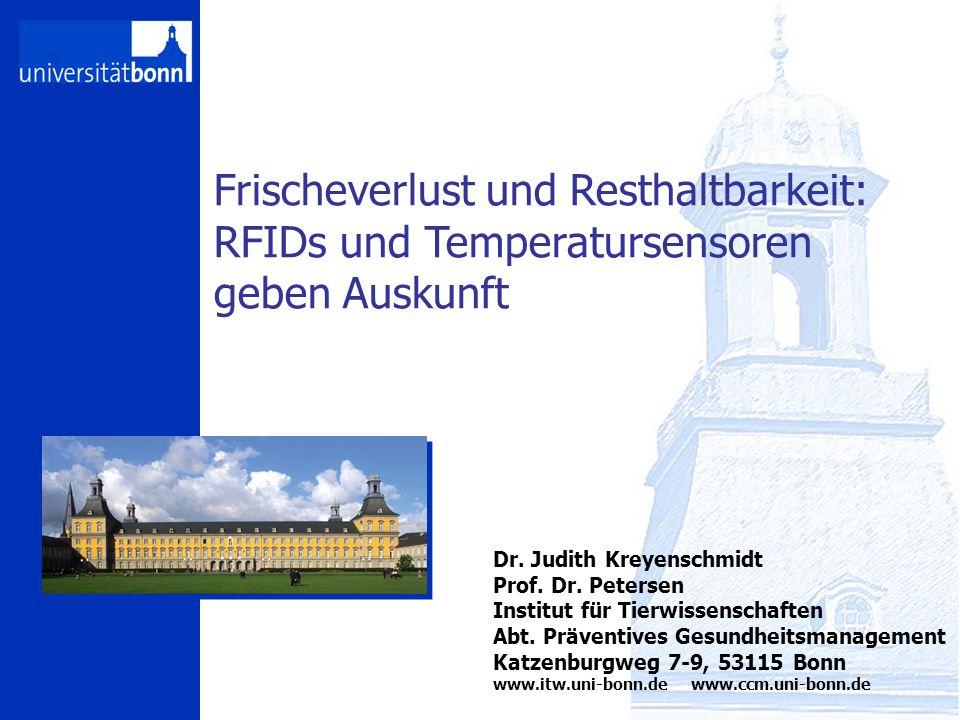 coldchainmanagement Frischeverlust und Resthaltbarkeit: RFIDs und Temperatursensoren geben Auskunft Dr.