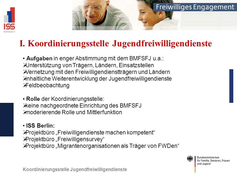 Koordinierungsstelle Jugendfreiwilligendienste I.