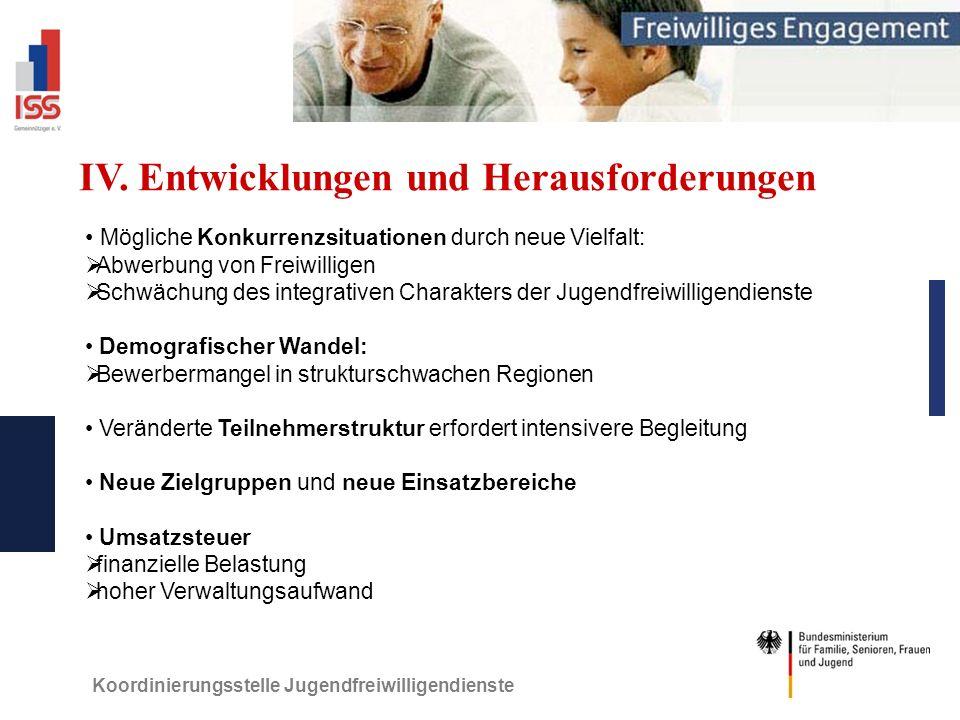 Koordinierungsstelle Jugendfreiwilligendienste IV.