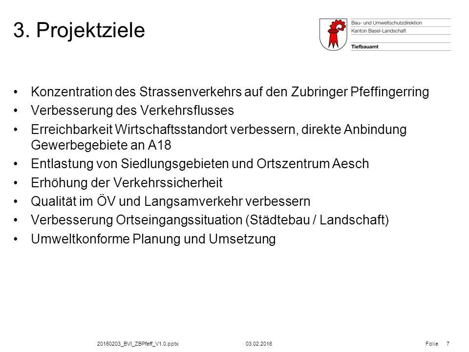 20160203_BVI_ZBPfeff_V1.0.pptx Folie Planauflage; Zubringer Pfeffingerring Die Planunterlagen können vom 08.02.2016 bis 08.03.2016 in der Gemeinde Aesch öffentlich eingesehen werden.