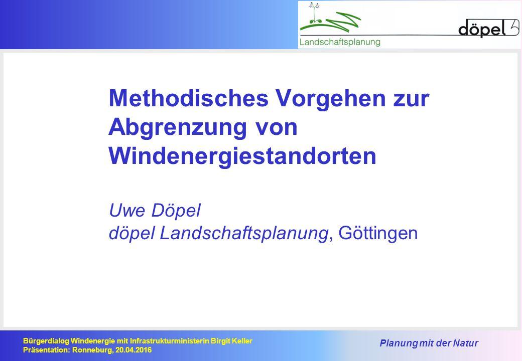 Planung mit der Natur Bürgerdialog Windenergie mit Infrastrukturministerin Birgit Keller Präsentation: Ronneburg, 20.04.2016 zurückgestellte Präferenzräume vorgeschlagene Präferenzräume Präferenzräume