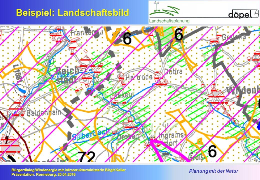 Planung mit der Natur Bürgerdialog Windenergie mit Infrastrukturministerin Birgit Keller Präsentation: Ronneburg, 20.04.2016 Beispiel: Landschaftsbild