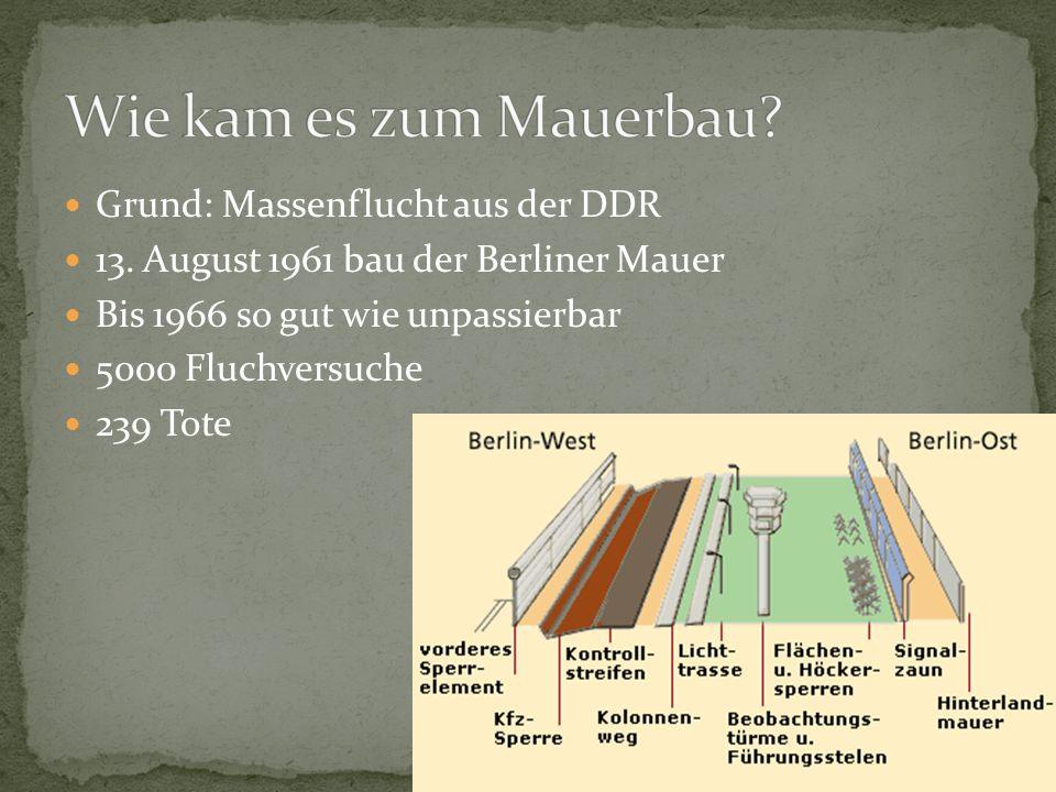 Grund: Massenflucht aus der DDR 13.