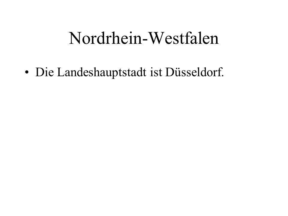 Die Landeshauptstadt ist Düsseldorf.
