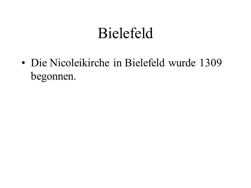 Bielefeld Die Nicoleikirche in Bielefeld wurde 1309 begonnen.