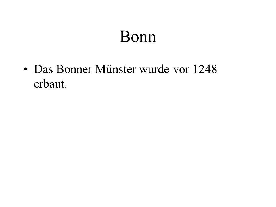 Bonn Das Bonner Münster wurde vor 1248 erbaut.