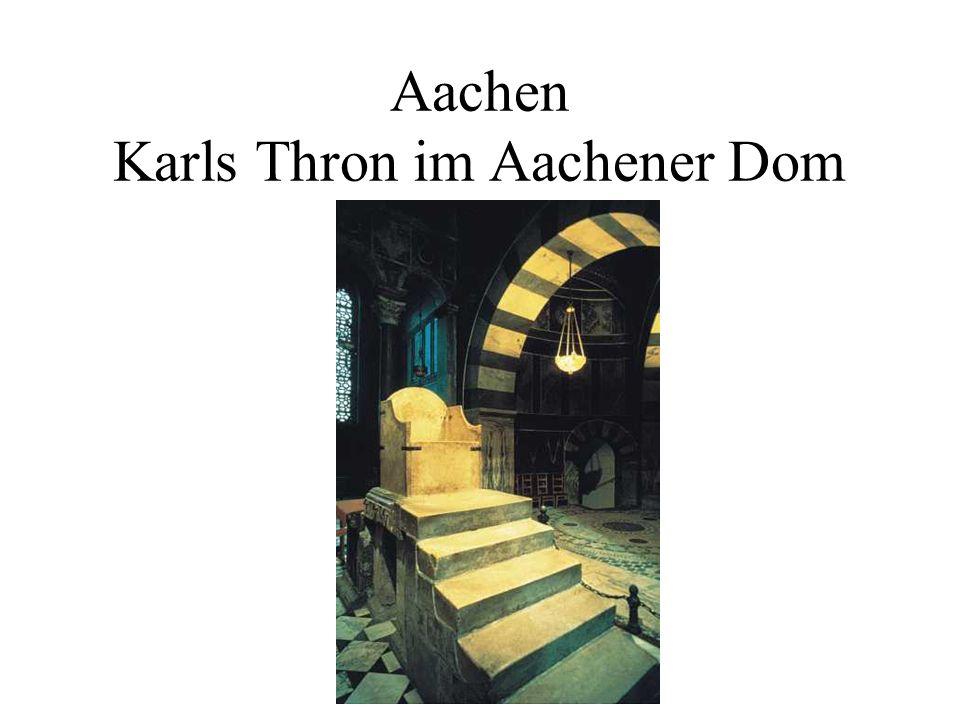 Aachen Karls Thron im Aachener Dom