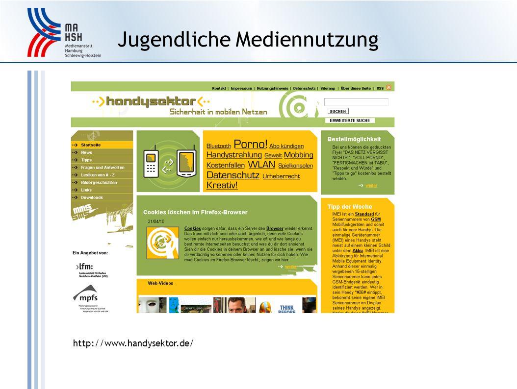 Jugendliche Mediennutzung http://www.handysektor.de/