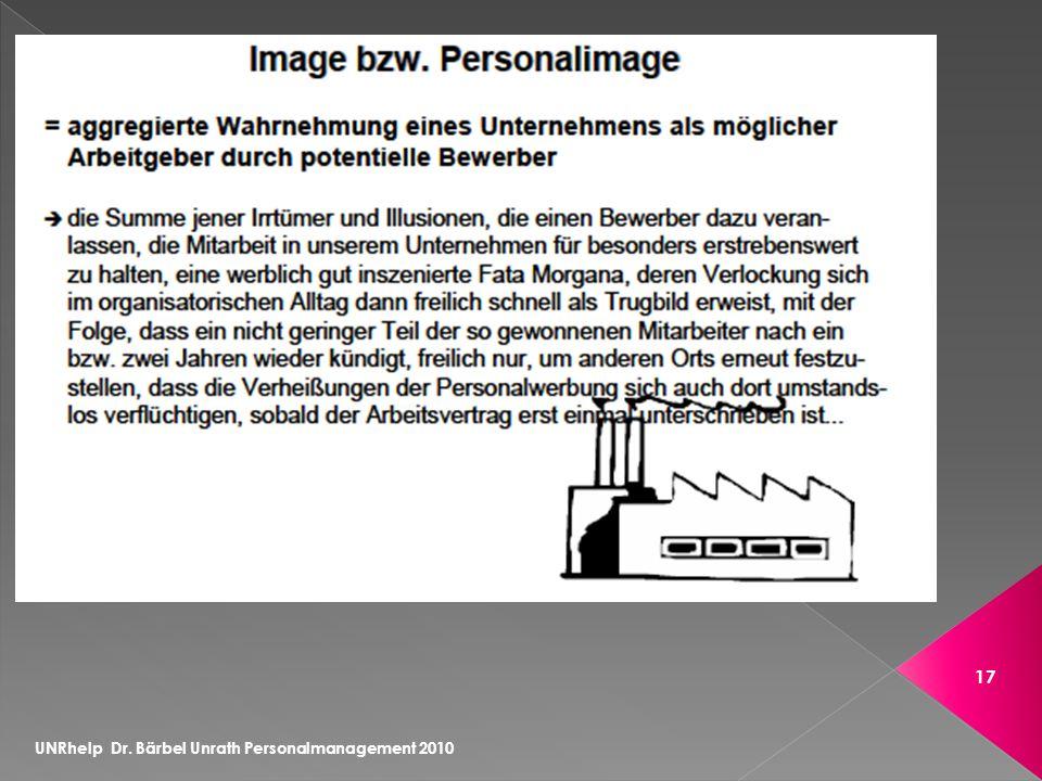 UNRhelp Dr. Bärbel Unrath Personalmanagement 2010 17