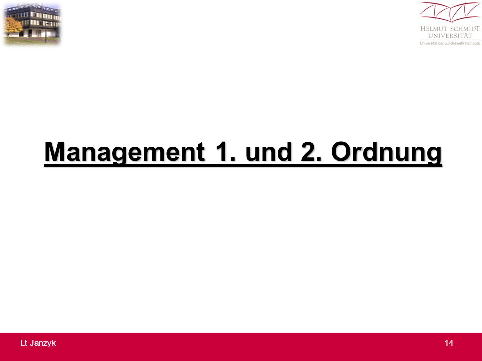 Management 1. und 2. Ordnung 14Lt Janzyk