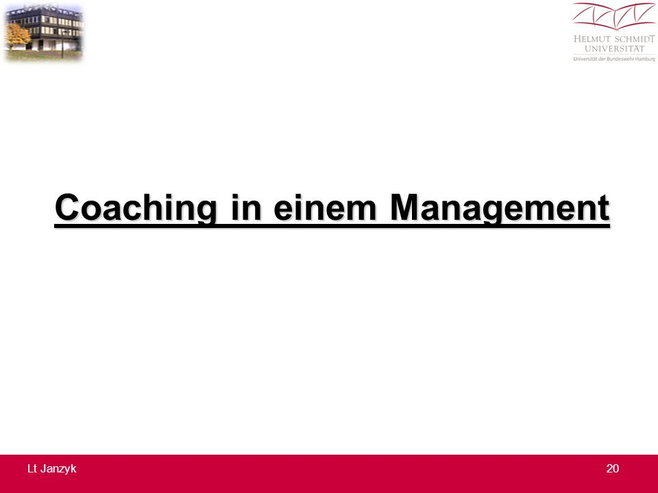 Coaching in einem Management 20Lt Janzyk