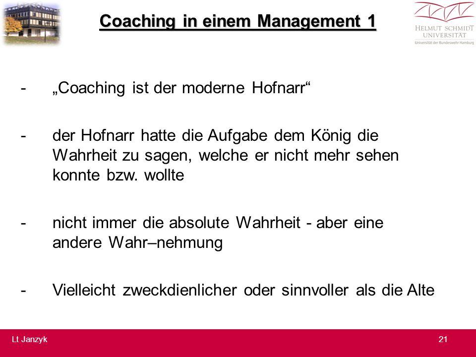 """Coaching in einem Management 1 -""""Coaching ist der moderne Hofnarr -der Hofnarr hatte die Aufgabe dem König die Wahrheit zu sagen, welche er nicht mehr sehen konnte bzw."""