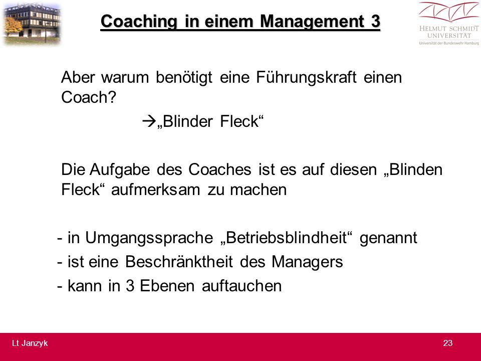 Coaching in einem Management 3 Aber warum benötigt eine Führungskraft einen Coach.
