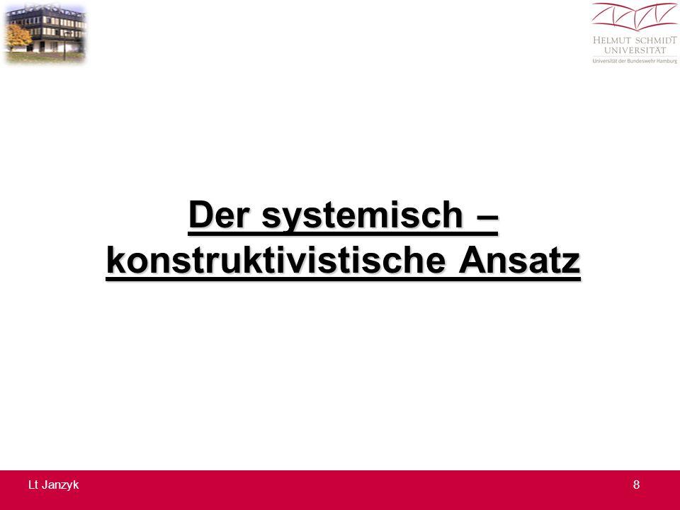 Der systemisch – konstruktivistische Ansatz 8Lt Janzyk