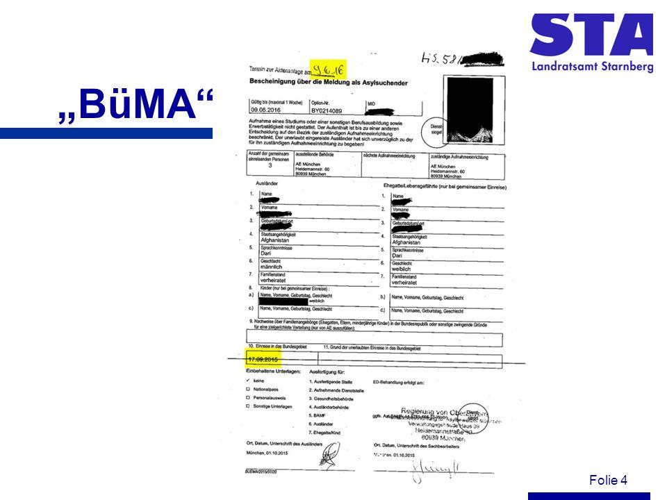 Folie 5 Ankunftsnachweis (AKN) Einem Ausländer, der um Asyl nachgesucht hat und nach den Vorschriften des Asylgesetzes oder des Aufenthaltsgesetzes erkennungs- dienstlich behandelt worden ist, aber noch keinen Asylantrag gestellt hat, wird unver- züglich eine Bescheinigung über die Meldung als Asylsuchender (Ankunftsnachweis) aus- gestellt.
