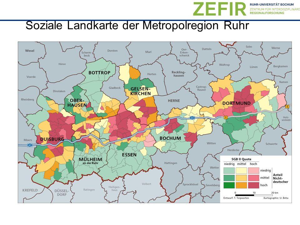 Soziale Landkarte der Metropolregion Ruhr