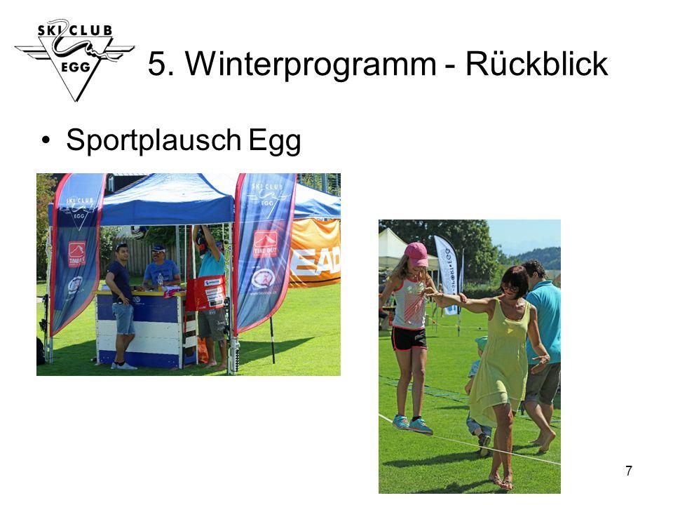 7 5. Winterprogramm - Rückblick Sportplausch Egg