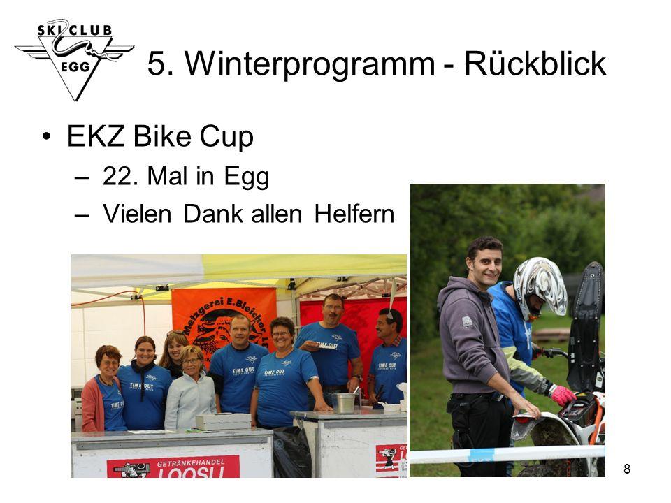 8 5. Winterprogramm - Rückblick EKZ Bike Cup – 22. Mal in Egg – Vielen Dank allen Helfern