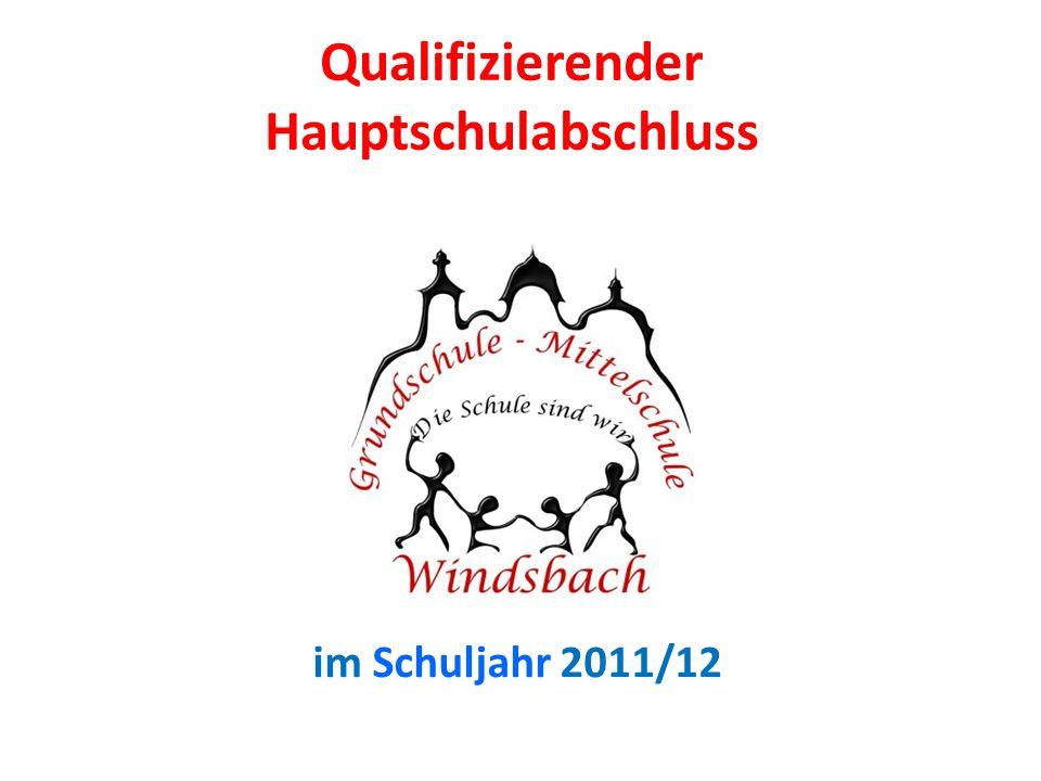 Qualifizierender Hauptschulabschluss im Schuljahr 2011/12