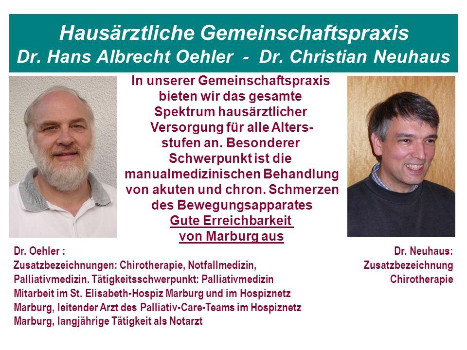 Hausärztliche Gemeinschaftspraxis Dr. Hans Albrecht Oehler - Dr.