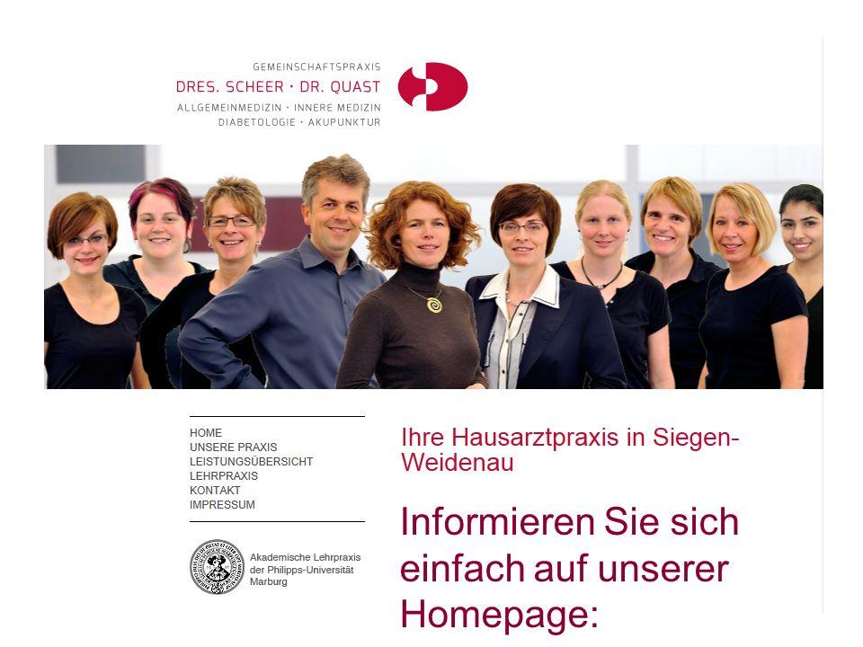 wws Informieren Sie sich einfach auf unserer Homepage: www.praxis- siegbogen.de