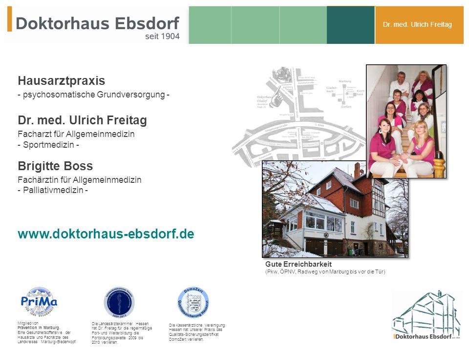 Dr. med. Ulrich Freitag Hausarztpraxis - psychosomatische Grundversorgung - Dr.