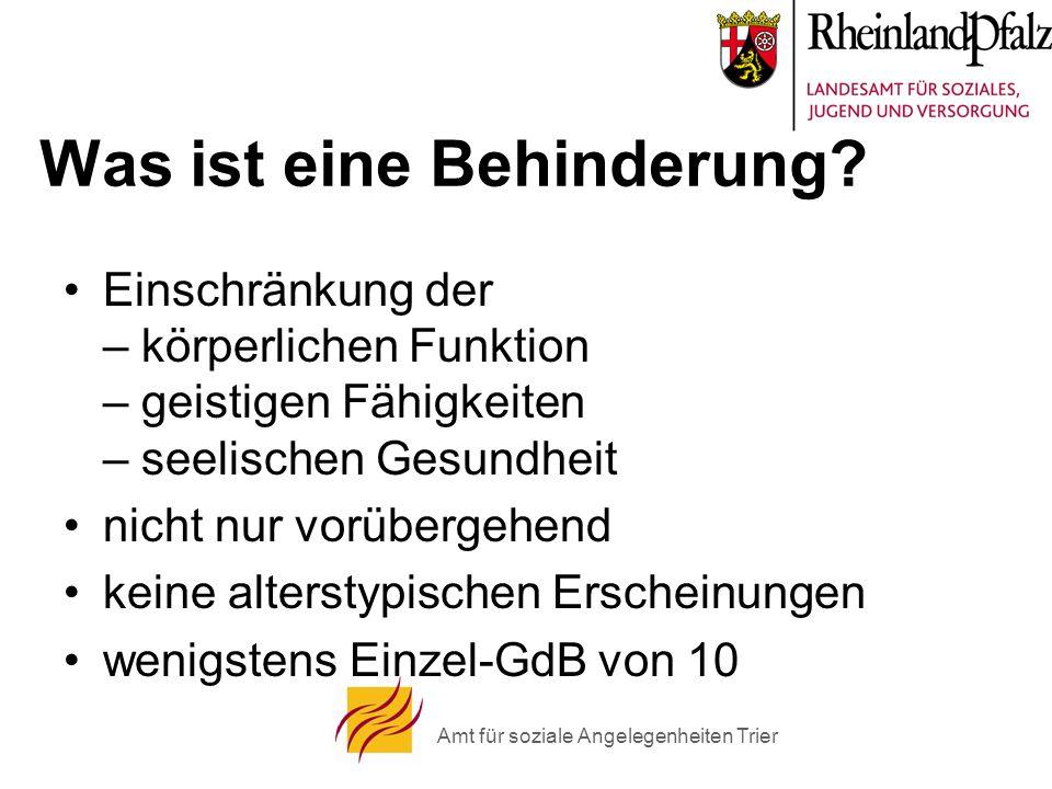 Amt für soziale Angelegenheiten Trier Was ist eine Behinderung.