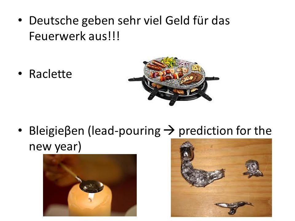 Deutsche geben sehr viel Geld für das Feuerwerk aus!!.