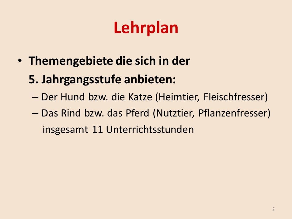 Lehrplan 3 Themengebiete die sich in der 6.