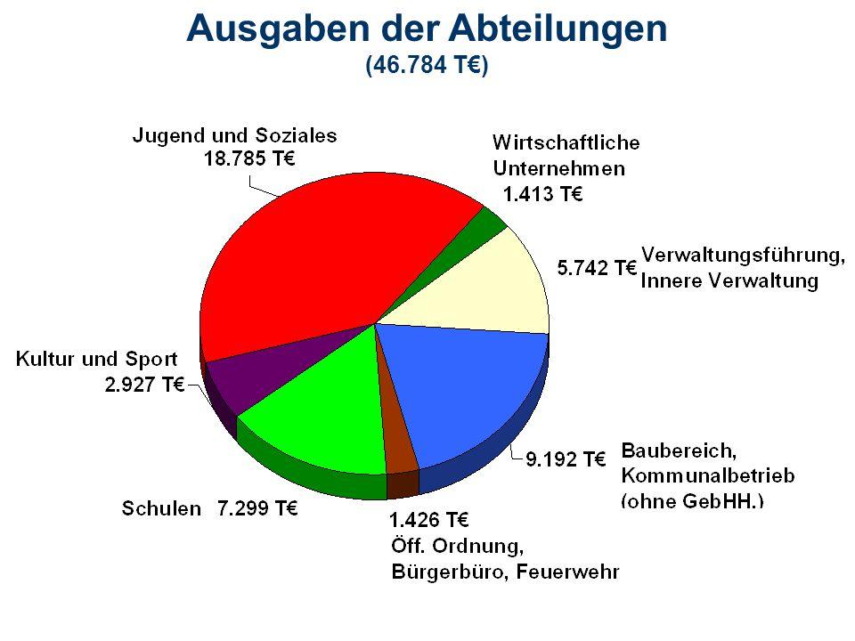 Ausgaben der Abteilungen (46.784 T€)