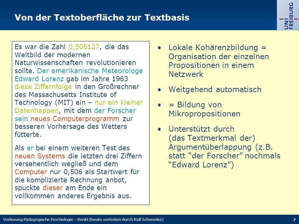 Von der Textoberfläche zur Textbasis Es war die Zahl 0,506127, die das Weltbild der modernen Naturwissenschaften revolutionieren sollte.