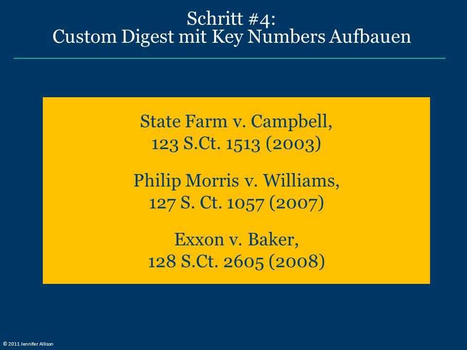 Schritt #4: Custom Digest mit Key Numbers Aufbauen State Farm v.