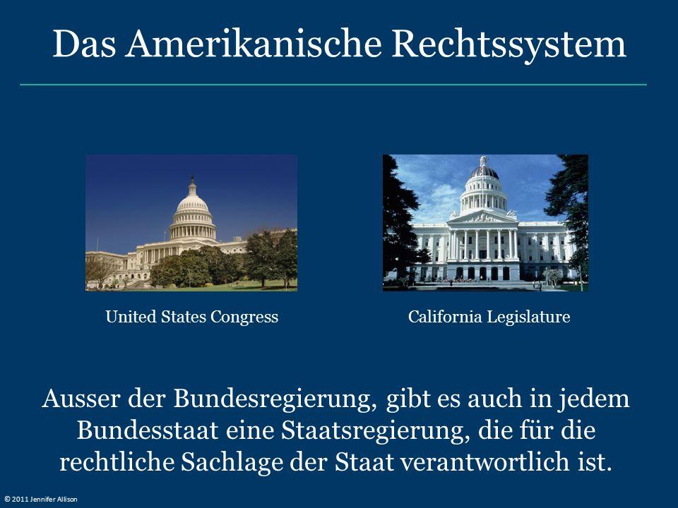 Ausser der Bundesregierung, gibt es auch in jedem Bundesstaat eine Staatsregierung, die für die rechtliche Sachlage der Staat verantwortlich ist.