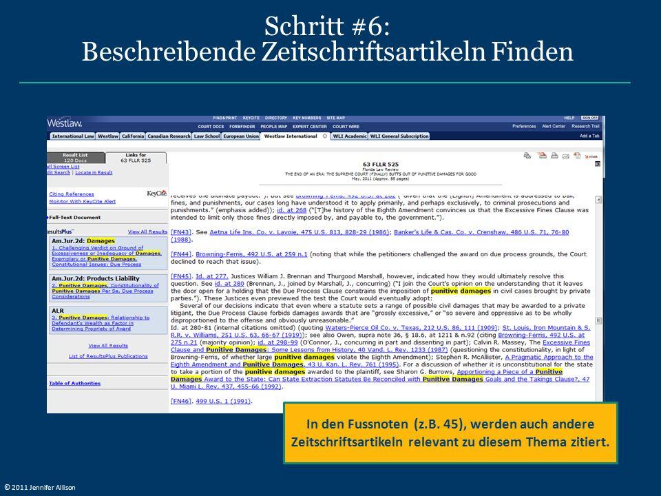 Schritt #6: Beschreibende Zeitschriftsartikeln Finden In den Fussnoten (z.B. 45), werden auch andere Zeitschriftsartikeln relevant zu diesem Thema zit