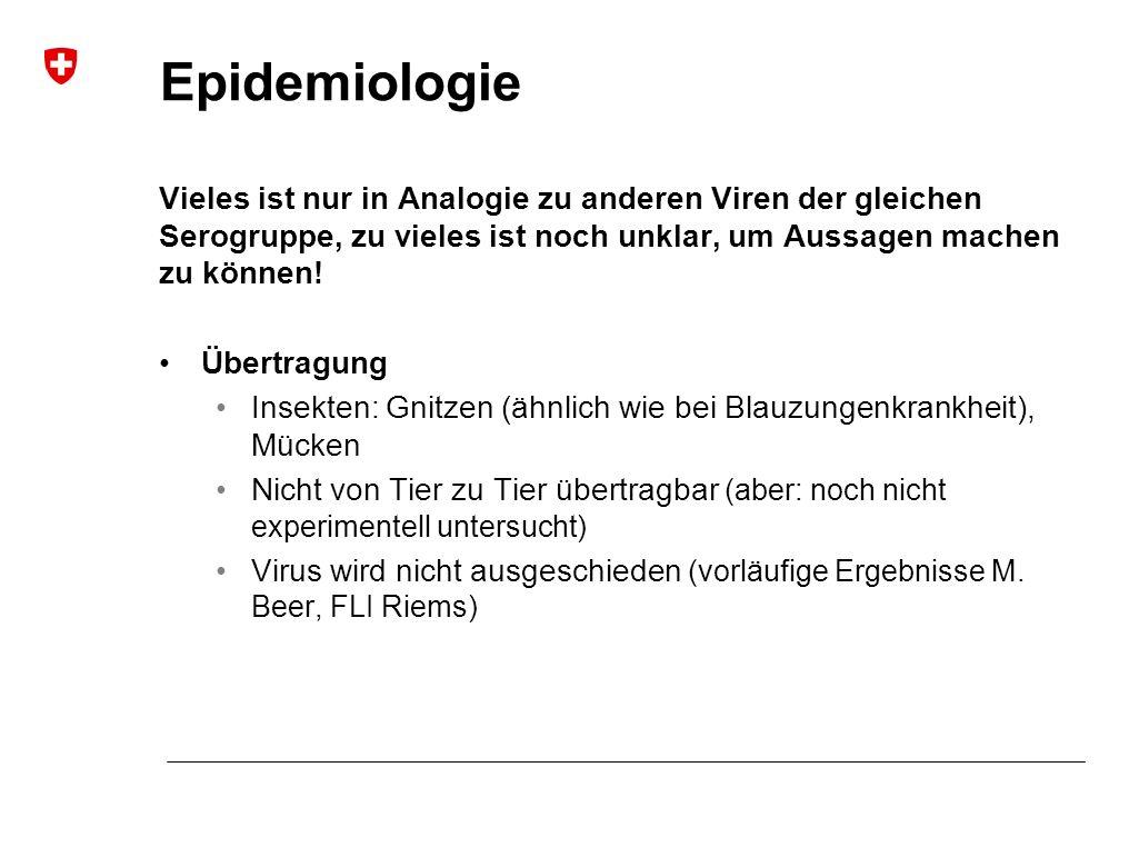 Epidemiologie Vieles ist nur in Analogie zu anderen Viren der gleichen Serogruppe, zu vieles ist noch unklar, um Aussagen machen zu können.