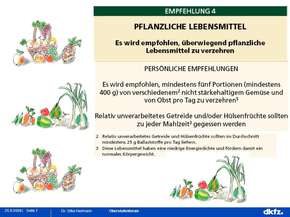 Seite 725.9.2009 | Dr. Silke Hermann Oberstufenforum